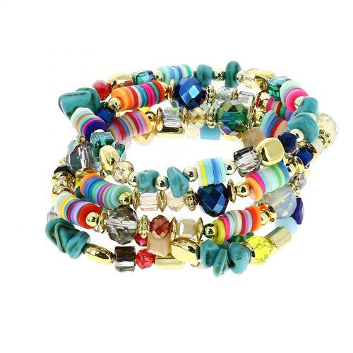 women boho extendable colored bracelet, THEA