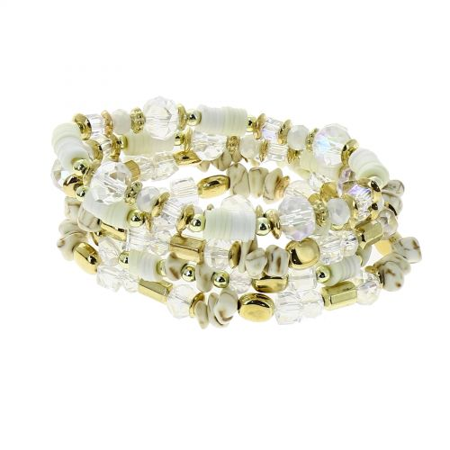 Bracelet ethnic expandable with pearl THEA
