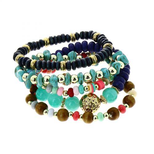 Bracelet femme ethnique extensible à perle,LISA
