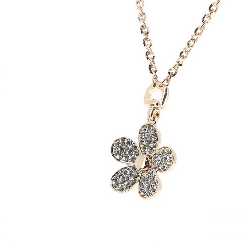 Collier fleurs strass, 7698 Or