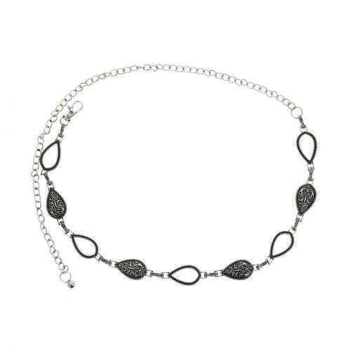 Cinturón de cadenas para mujer, metal, ajustable, LALY