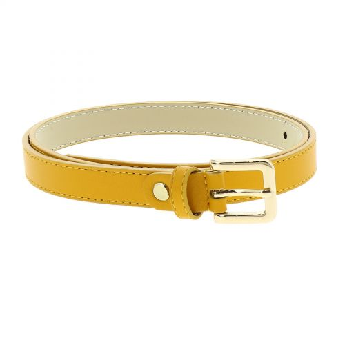 Belt Genuine Italian leather, leather Nubuk lined for women, width 0.75in, LINDA