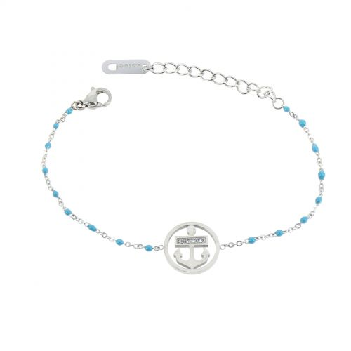 Bracelet femme acier inoxydable adjustable strass perle HADA