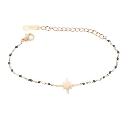 Bracelet femme acier inoxydable adjustable perle HACI