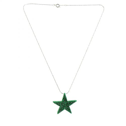 Collier étoile strass