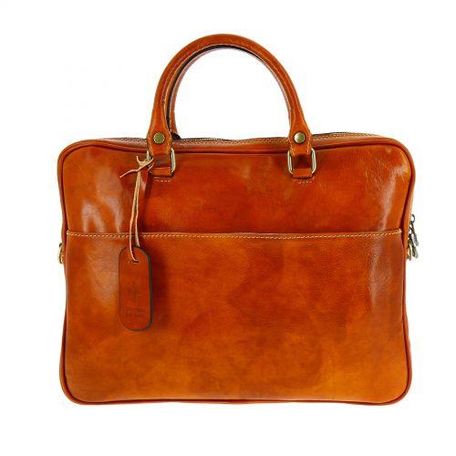HUGO leather and canvas bag