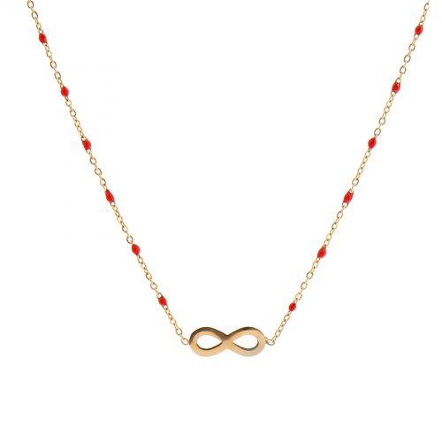 Collier à pendentif à perle infini UNA