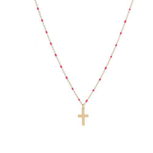 Collier à pendentif à perle croix FALONE