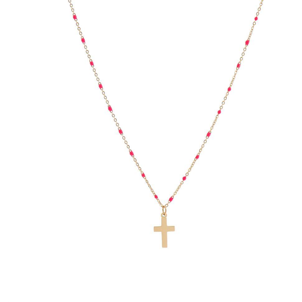 collier femme avec croix
