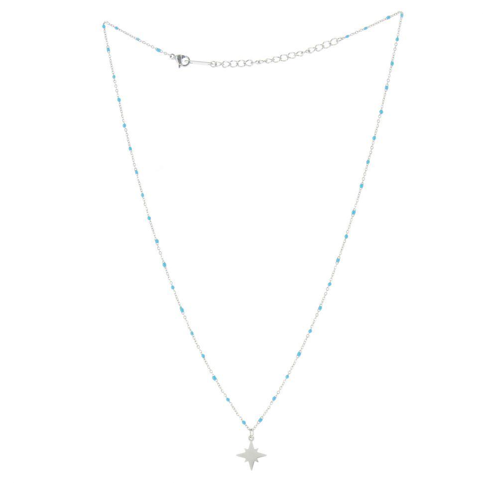 Collier à pendentif à perle Anis étoile FARA