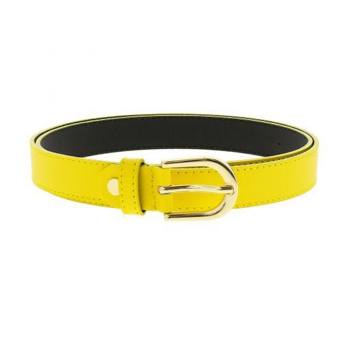 Cinturón de mujer Premium en Piel italiano auténtico forrado con cuero nobuk, MELANIE