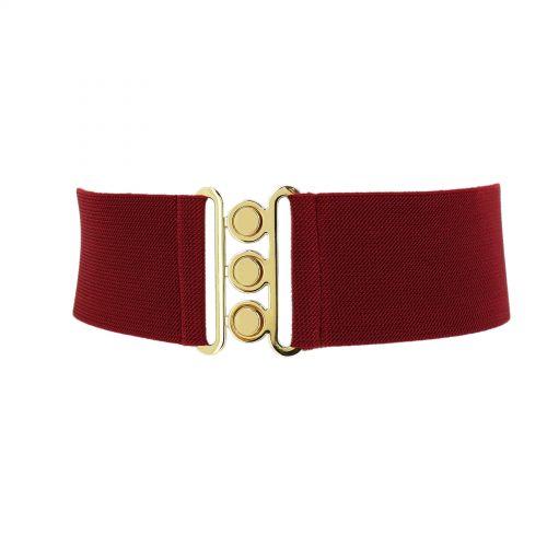Wide Waist Elasticated Woman Belt, GLORIA Made in France