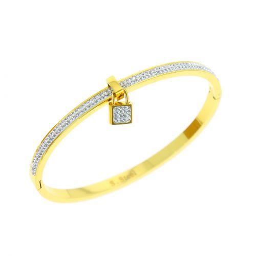 Zirconium crystal Stainless steel bracelet, CHIA