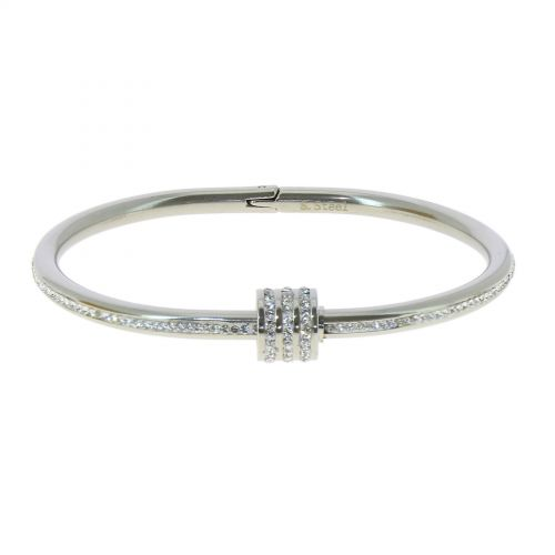 Zirconium crystal Stainless steel bracelet, MARY