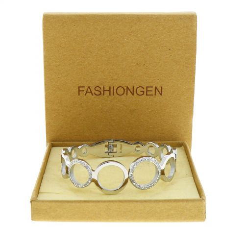 Crystal of zirconium Stainless Steel Bracelet, BELINE