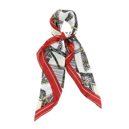Sciarpa per donna 70 x 70 cm in poliestere, alta qualità, sensazione di seta, CHIARA