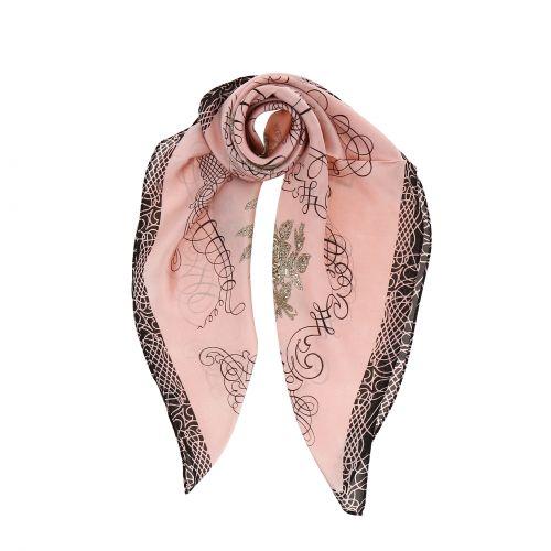 Foulard pour Femme 70 x 70 cm en Polyester haute qualité, sensation Soie, LISIA