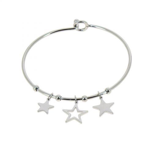 Bracelet Acier inoxydable femme à étoile, SALEHA
