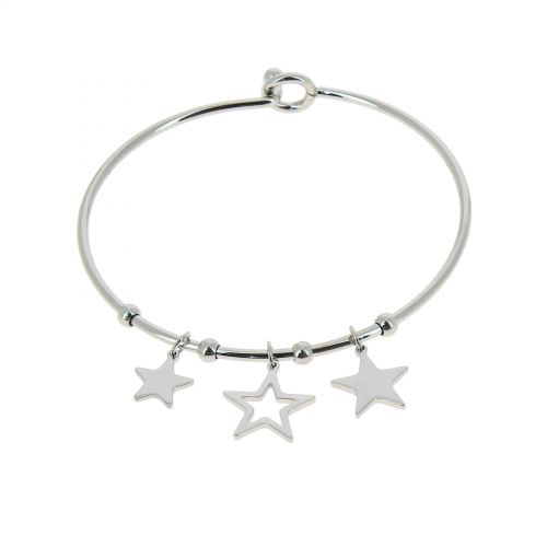 Zirconium crystal Stainless steel bracelet, DORIS