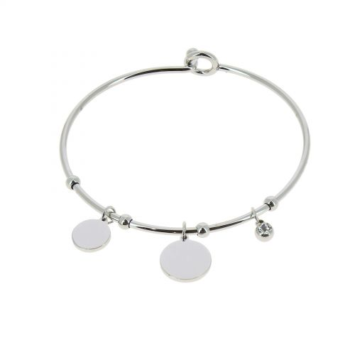Crystal of zirconium Stainless Steel Bracelet, ROZA