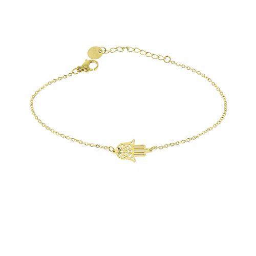 Bracelet femme acier inoxydable adjustable main de fatima, CORONADO