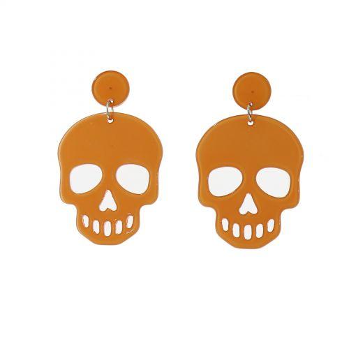 Boucles d'oreilles tête de mort HONORINE