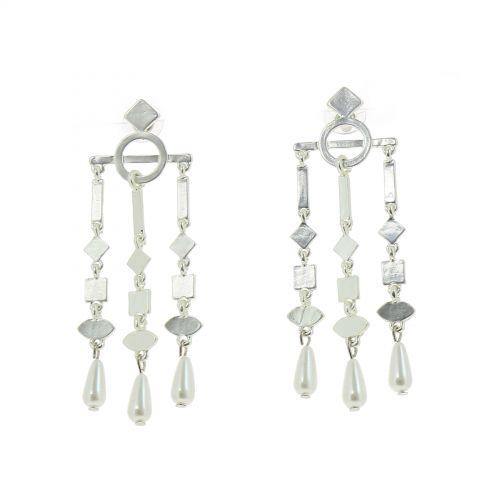 Boucles d'oreilles femme pendantes perle MARION