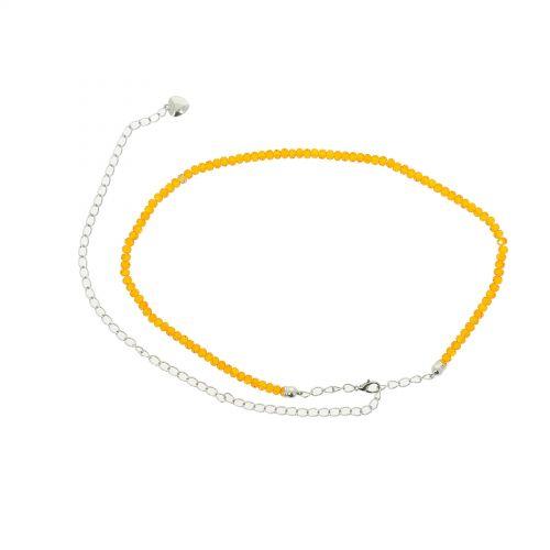 Damen Gürtel Kettengürtel, Gürtelkette mit Strass verstellbar, MELINE