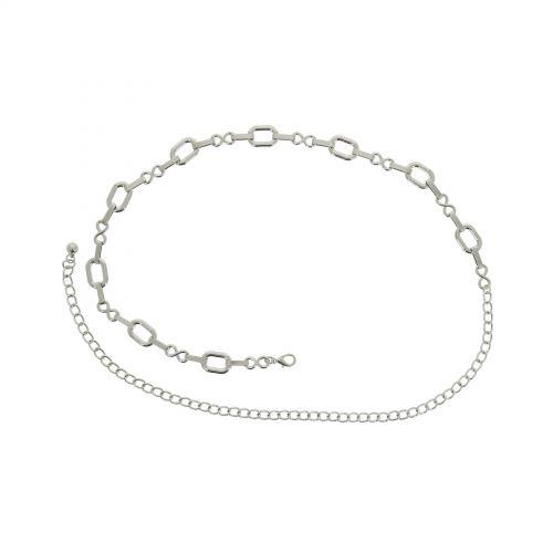 Cinturón de cadenas para mujer, metal, ajustabler, ANNA