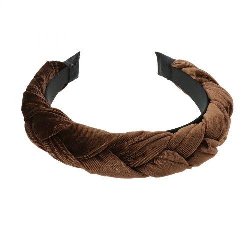 Bandeaux pour femme tressé élastique bande de cheveux extensible tête