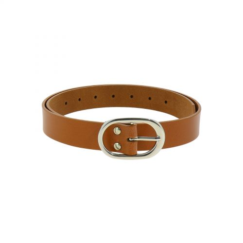 Women's Belt 1.2 Inches Width, Genuine Italian Leather, HENRIETTA, Made in France