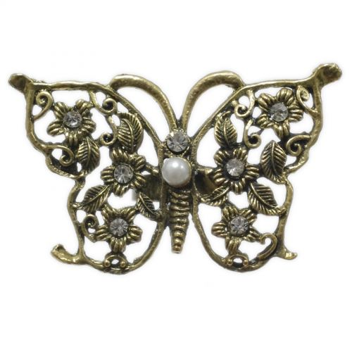 Bague fantaisie, papillon strass XL Bronze Bronze - 1990-5885
