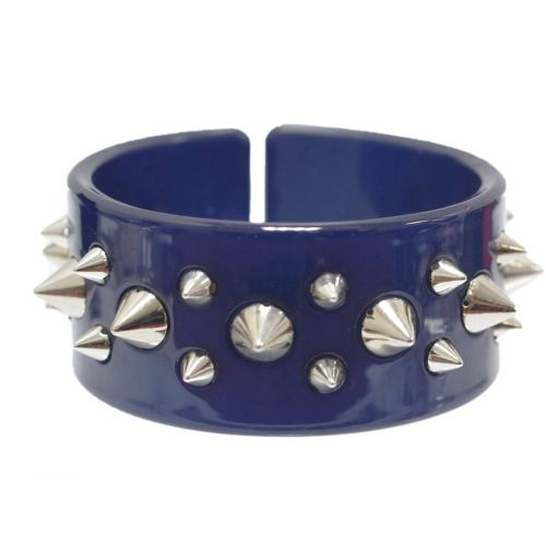 bracelet BOS-3, acrylique clouté de pique Bleu cyan - 1779-6118