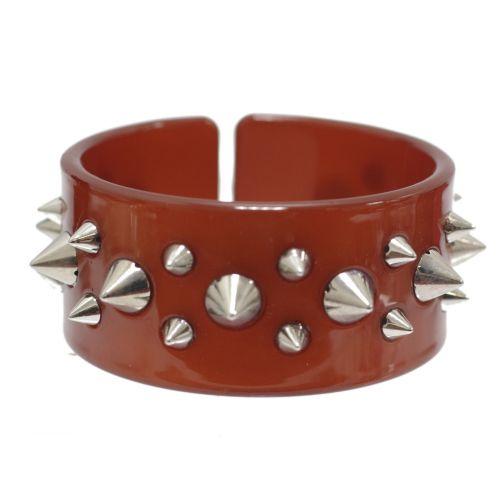 bracelet BOS-3, acrylique clouté de pique Camel - 1779-6120