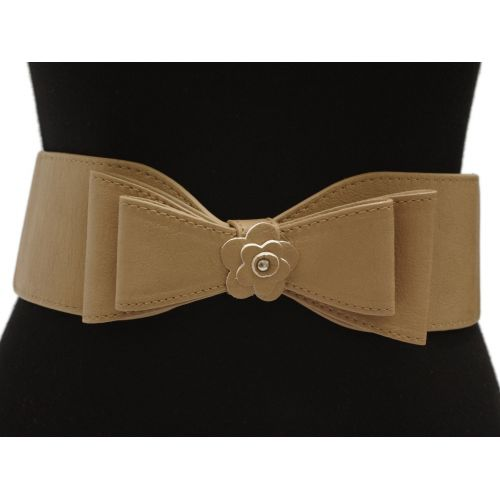 Wide bowtie elastic belt, MARILOU