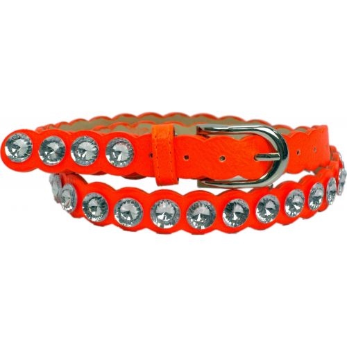 Ceinture similicuir 2 cm, Strass XL acrylique, 2809 orange neon 85 - 2810-9303