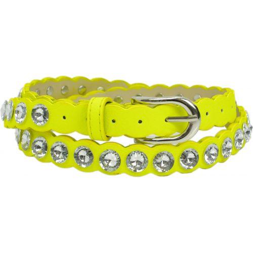 Strass Leatherette belt, ELEMINA