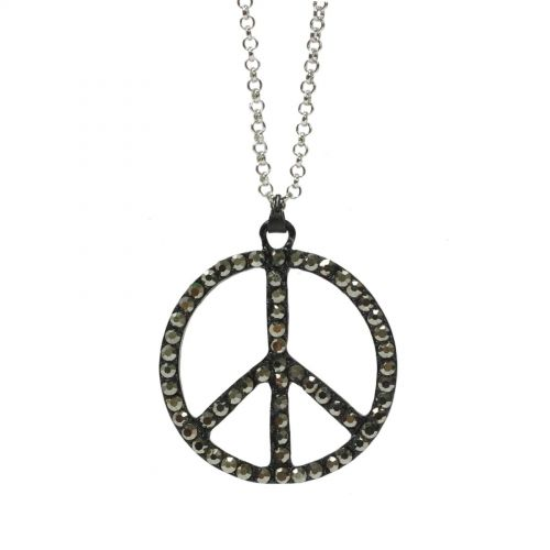 Collier 60 cm, peace and love