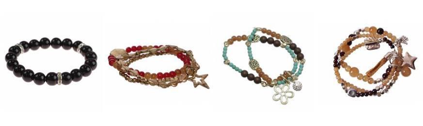 Strech ethnic bead bracelets